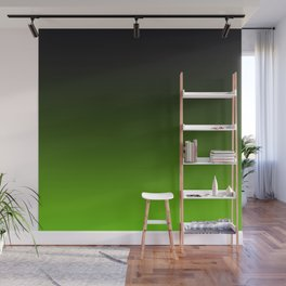 Ombre Lemon Green Wall Mural