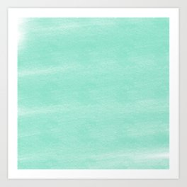 Chalky background - aqua Art Print