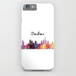 Dubai water colour vector  Quote Art Design Insp iPhone Case