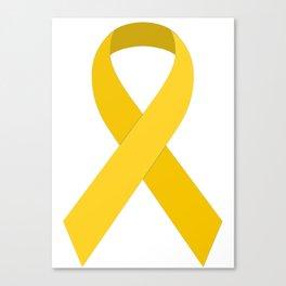 Yellow Awareness Support Ribbon Canvas Print
