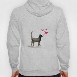 I Love Cats No. 3a by Kathy Morton Stanion Hoody