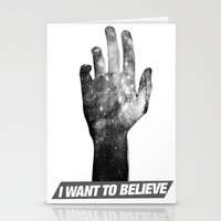 i want to believe Stationery Cards featuring I Want To Believe by Devin Caldwell