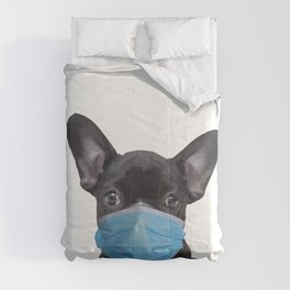 French Bulldog with Mouth Nose Mask - Frenchie Comforters