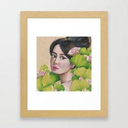 Gingko Girl Framed Art Print