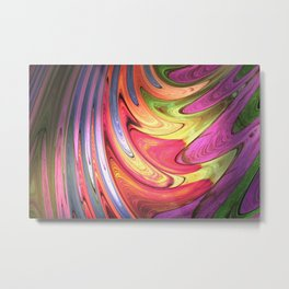 Abstract Streak Metal Print