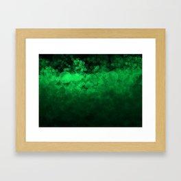 Green Spotted Framed Art Print