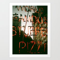 Chicago: World Famous Pizza Art Print