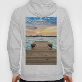 Wooden Jetty At Dusk Ultra HD Hoody