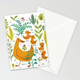Duck Family Stationery Cards