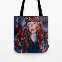 kate bishop Tote Bags featuring Kate by Juliette Caron