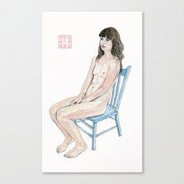 The Blue Chair Canvas Print