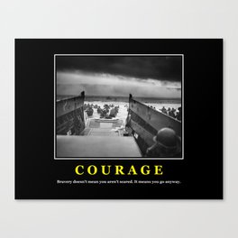 Courage -- D Day Print Canvas Print