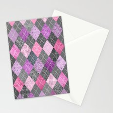 Magic Argyle Quilt Stationery Cards