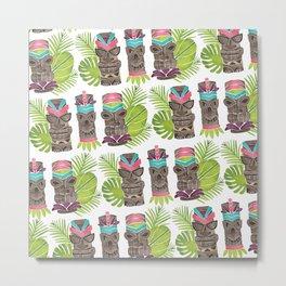 Tiki Party Pattern Metal Print