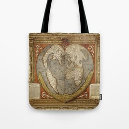 Heart-shaped projection map Tote Bag