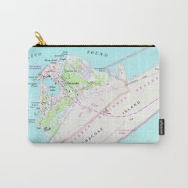 Vintage Map of Ocracoke North Carolina (1948) Carry-All Pouch
