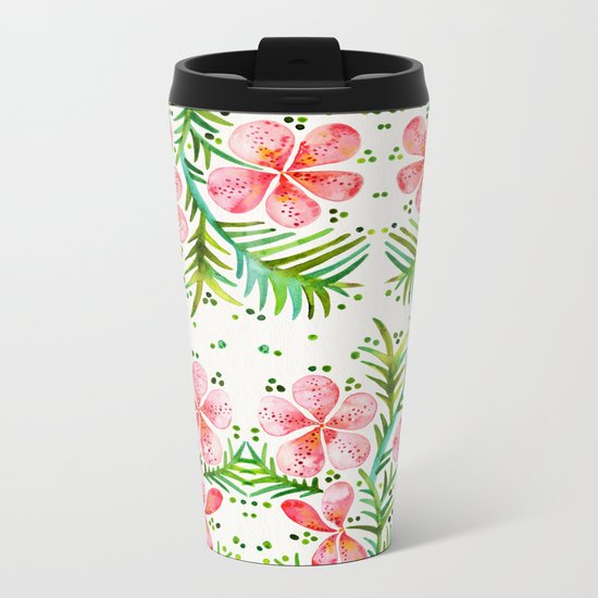 Orchid Bunch – Peach Palette Metal Travel Mug