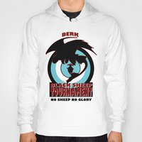 hiccup Hoodies featuring Black Sheep tournament by Une Belle Pagaille