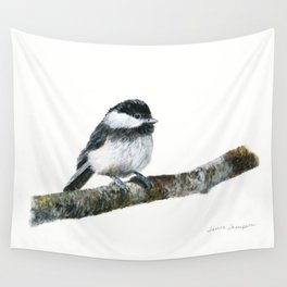 Black-capped Chickadee by Teresa Thompson Wall Tapestry