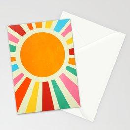 Retro Sunrise: Rainbow Edition Stationery Cards