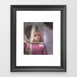 behind the barb Framed Art Print