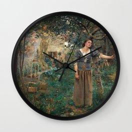 Jules Bastien-Lepage - Johanna von Orleans anagoria Wall Clock