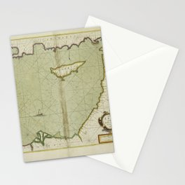 A chart of the LEVANT or the sea coast of Egypt, Syria, Caramania and the Island Cyprus Stationery Cards