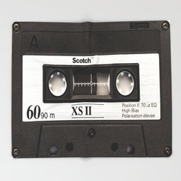 Cassette Tape Black And White #decor #homedecor #society6 Throw Blanket