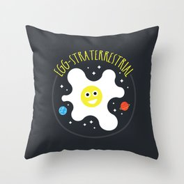 Egg-straterrestrial Throw Pillow