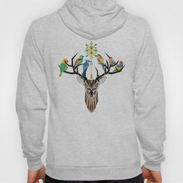 deer birds Hoody