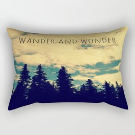 Wander and Wonder Rectangular Pillow