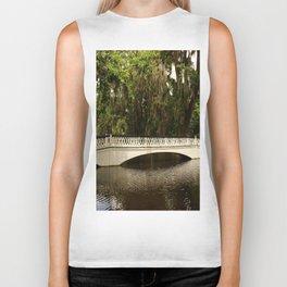 Beautiful White Magnolia Plantation Bridge Biker Tank