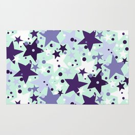 Fun pattern with stars and twinkle lights Rug