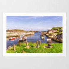 The Little Harbour Art Print