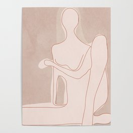 Abstract Woman Figure Poster