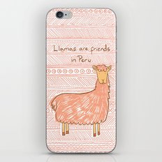 Llamas are Friends in Peru iPhone & iPod Skin