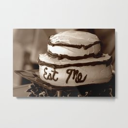 Alice's Eat Me Cake  Metal Print