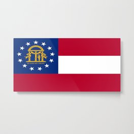 flag of the state of Georgia-Georgian,Gone with the wind,Atlanta,Colombus,Macon,Scarlett o'Hara,Usa Metal Print