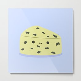 Cute Stinky Cheese Metal Print