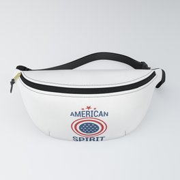 American Spirit Red White and Blue American Flag Fanny Pack