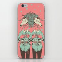 boob iPhone & iPod Skins featuring unicorn boob by Yna Crez
