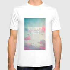 limitless mind Mens Fitted Tee MEDIUM White