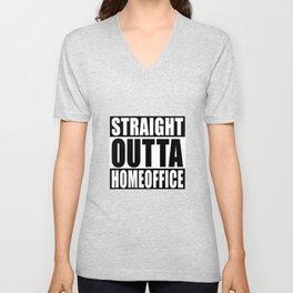 Straight Outta Homeoffice Unisex V-Neck