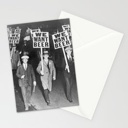 We Want Beer Prohibition Stationery Cards