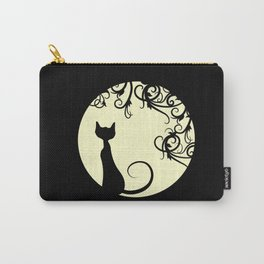 Black cat in the moon Carry-All Pouch