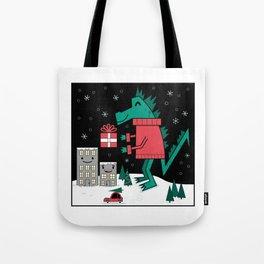 Kaiju Christmas Tote Bag