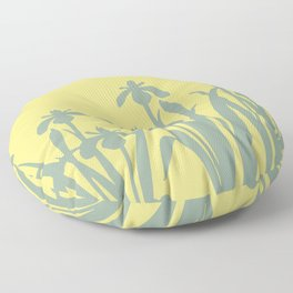 Abstract Daffodils  pattern yellow #daffodils #flowers Floor Pillow