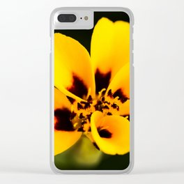 Jaguar Marigold Clear iPhone Case