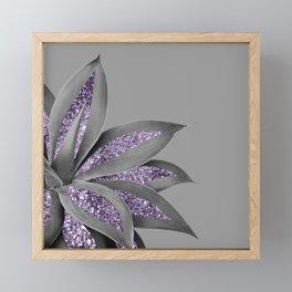 Agave Finesse Glitter Glam #4 #tropical #decor #art #society6 Framed Mini Art Print