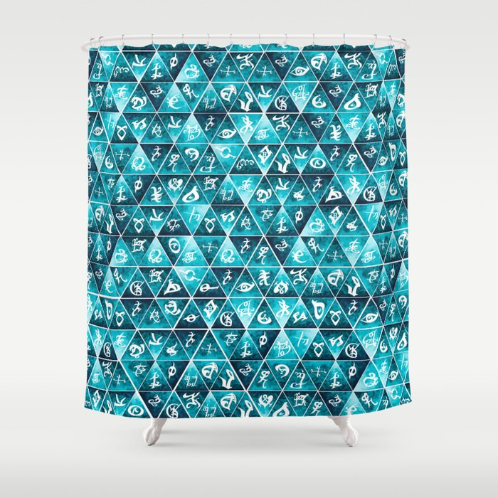Shadowhunters Runes Mosaic Shower Curtain by dibeauteous | Society6